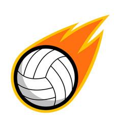 Sport ball fire volleyball vector