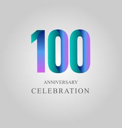 100 year anniversary celebration template design vector