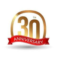 30 years anniversary experience gold label with vector