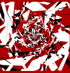 Abstract art with random chaotic shapes artistic vector