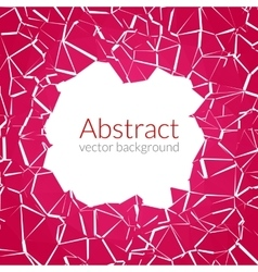 Abstract background with hole and cuts vector