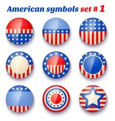 american symbols set1 vector image