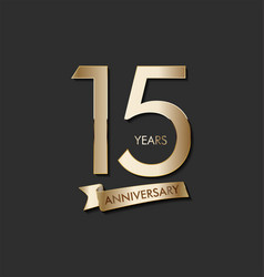 Anniversary celebration design with gold number vector