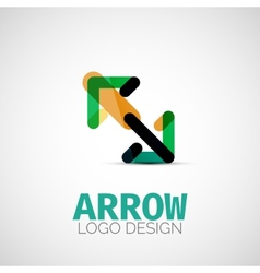 arrow company logo vector image