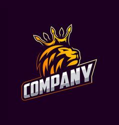 awesome royal lion logo design vector image
