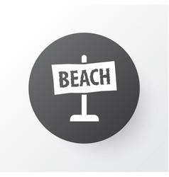 beach sign icon symbol premium quality isolated vector image