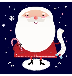 Beautiful cute Santa with delivery note vector