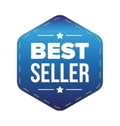 Best Seller blue patch vector image