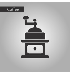 black and white style coffee grinder vector image