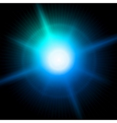 Blue luminous star Lens flare effect vector image