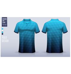 Blue polo shirt mockup template design vector