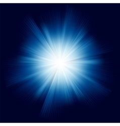Blue star burst vector