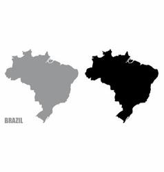 brazil silhouette maps vector image