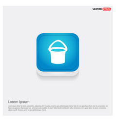 Bucket icon vector