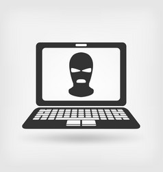 Burglar in mask hacker concept vector