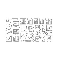 business analysis and research banner vector image