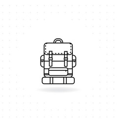 Camping backpack icon vector