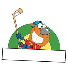 Cartoon hockey player vector image vector image