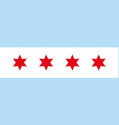 Chicago flag vector