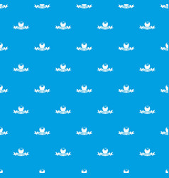 Chocolate sweet shop pattern seamless blue vector