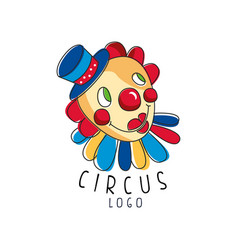 circus logo original design creative badge with vector image