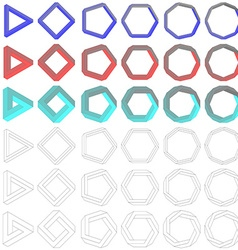 Collection of impossible Penrose polygons vector