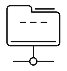 Common file folder icon outline style vector