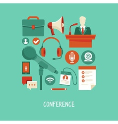 Conference concept vector
