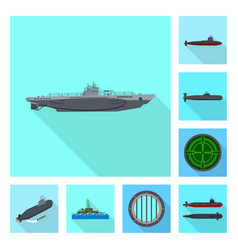 design military and nuclear symbol vector image