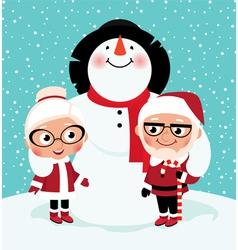 Elderly Mr and Mrs Santa Claus vector image