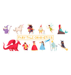 fairy tale characters set vector image