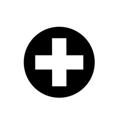 flat medical cross icon vector image