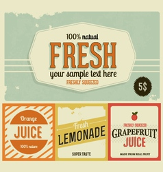 Fresh lemonade design element vector