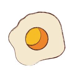 fried egg design vector image