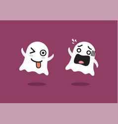 Funny ghosts character vector