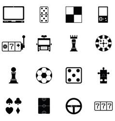 Game icon set vector