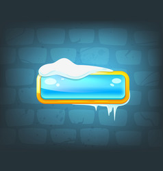 Game long ice blue button vector