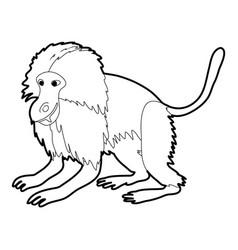 Gelada monkey icon outline vector