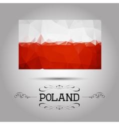 geometric polygonal Poland flag vector image