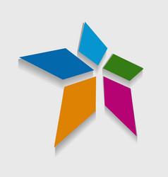 Geometric star shape icon vector