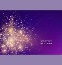 Gradient banner golden particles vector