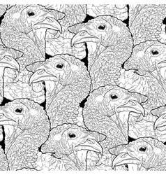 Graphic turkey pattern vector image