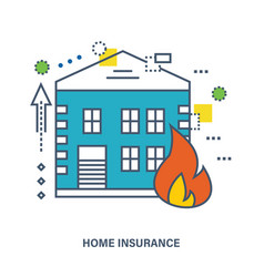 home insurance fire protection flat vector image
