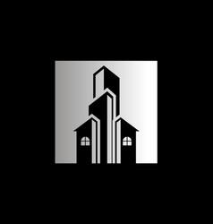 house cityscape architecture business logo vector image