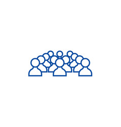 human resources people line icon concept human vector image