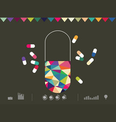 Icon drug vector