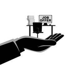 job offer concept vector image