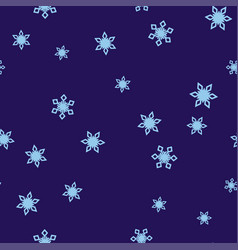 light blue snowflakes on a dark blue background vector image