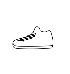 Line sneakers element to do exercise with fashion vector