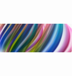 modern liquid color flow on white - colorful flow vector image